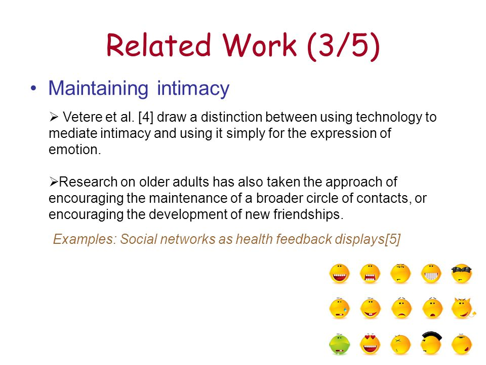 18 Design Implications (1/2) 1)First and foremost it seems to be the case that, for older adults, contact should allow for a level of intimacy that is personalized.