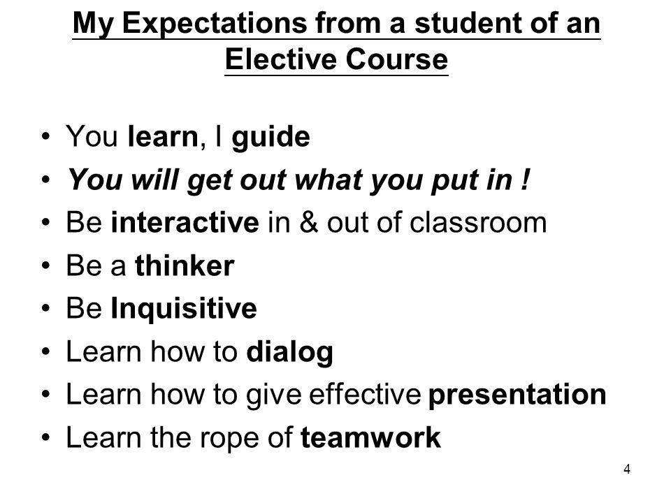 5 Course Content Please see handout: Course Outlines