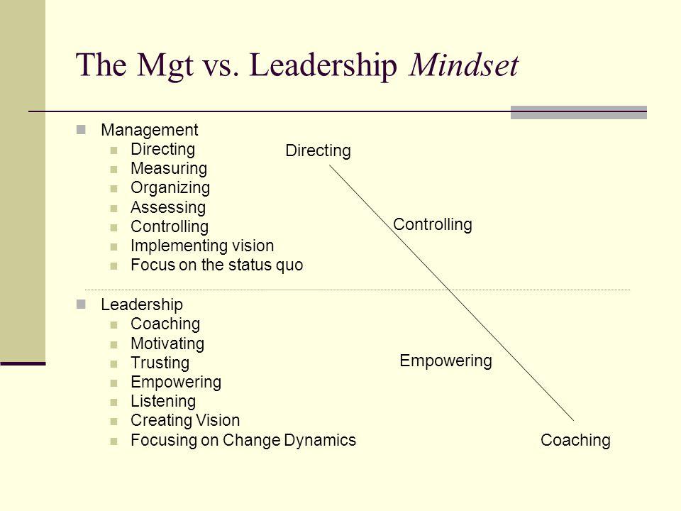 The Mgt vs.