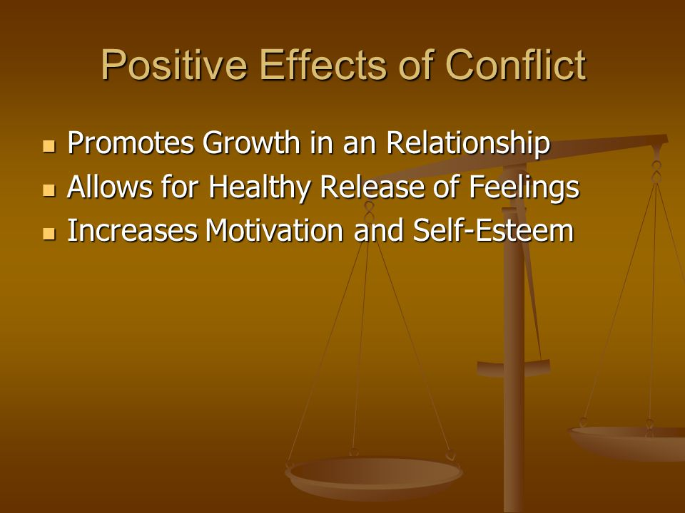 Negative Effects of Conflict The Manner in Which We Approach Interpersonal Conflict The Manner in Which We Approach Interpersonal Conflict Larger Problems and Deeper Personal Resentments May Occur Larger Problems and Deeper Personal Resentments May Occur