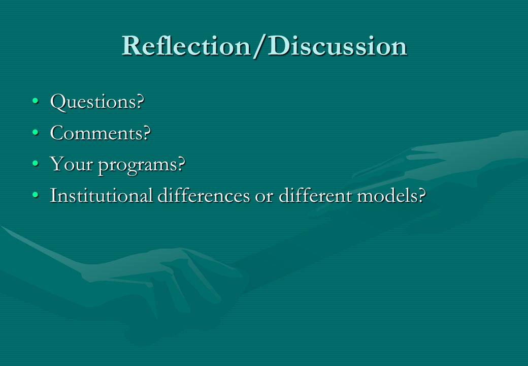 Reflection/Discussion Questions Questions. Comments Comments.