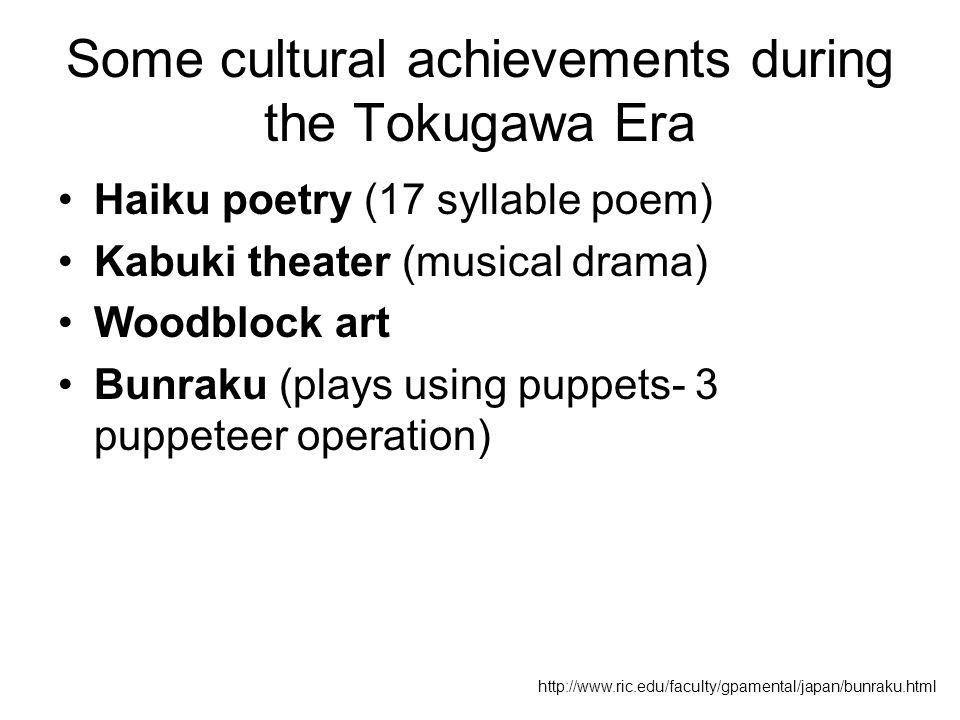 The Tokugawa Shogunate (A.K.A.