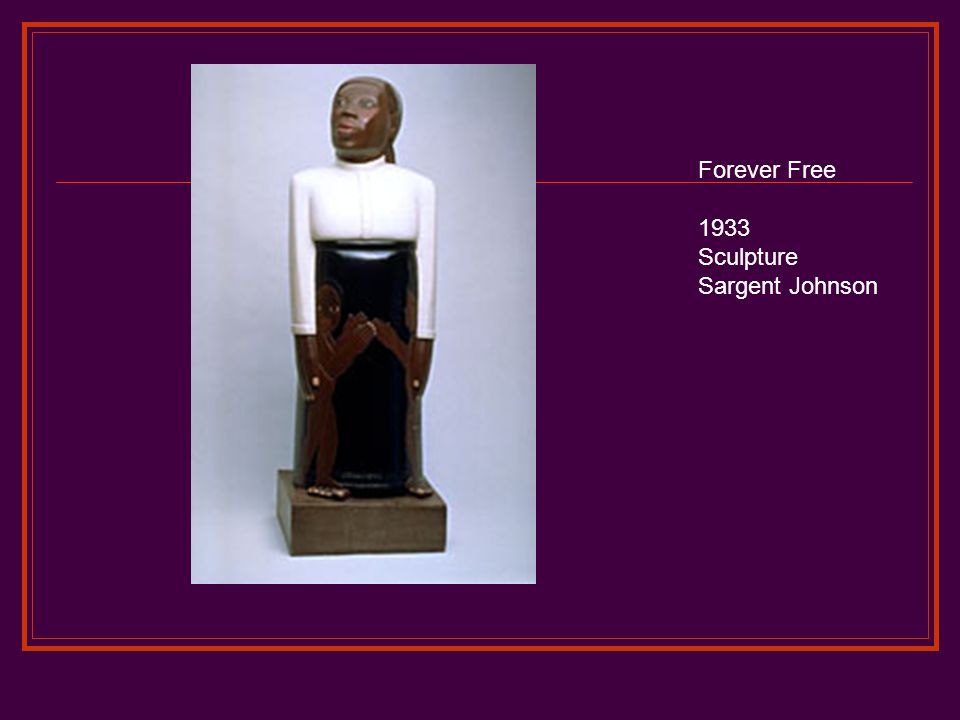 Forever Free 1933 Sculpture Sargent Johnson