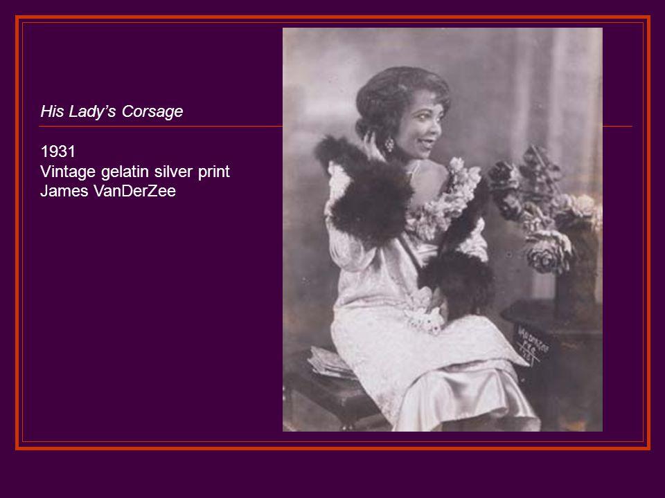 His Lady's Corsage 1931 Vintage gelatin silver print James VanDerZee