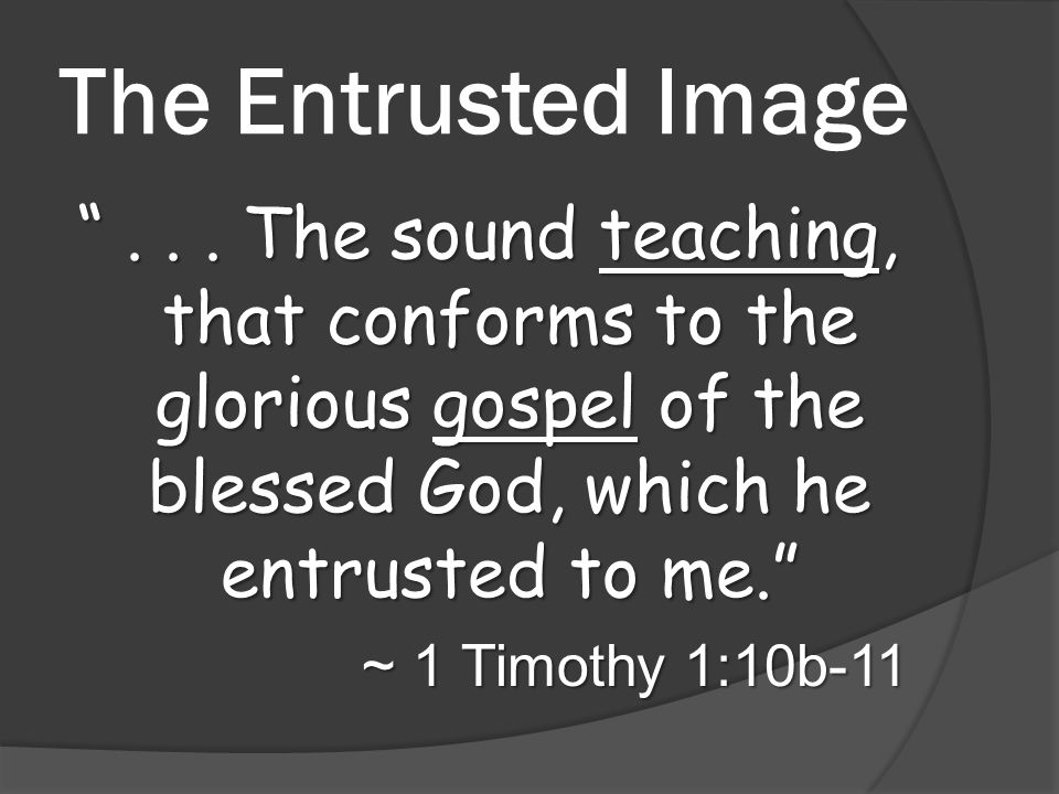 The Entrusted Image ...
