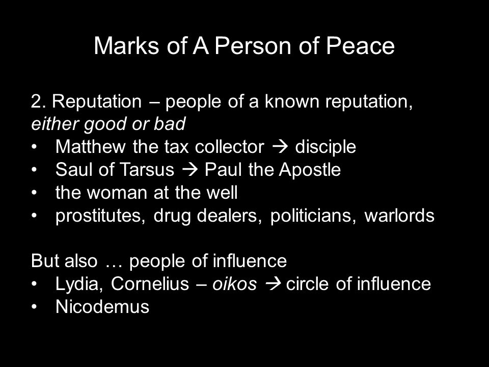 Marks of A Person of Peace 2.