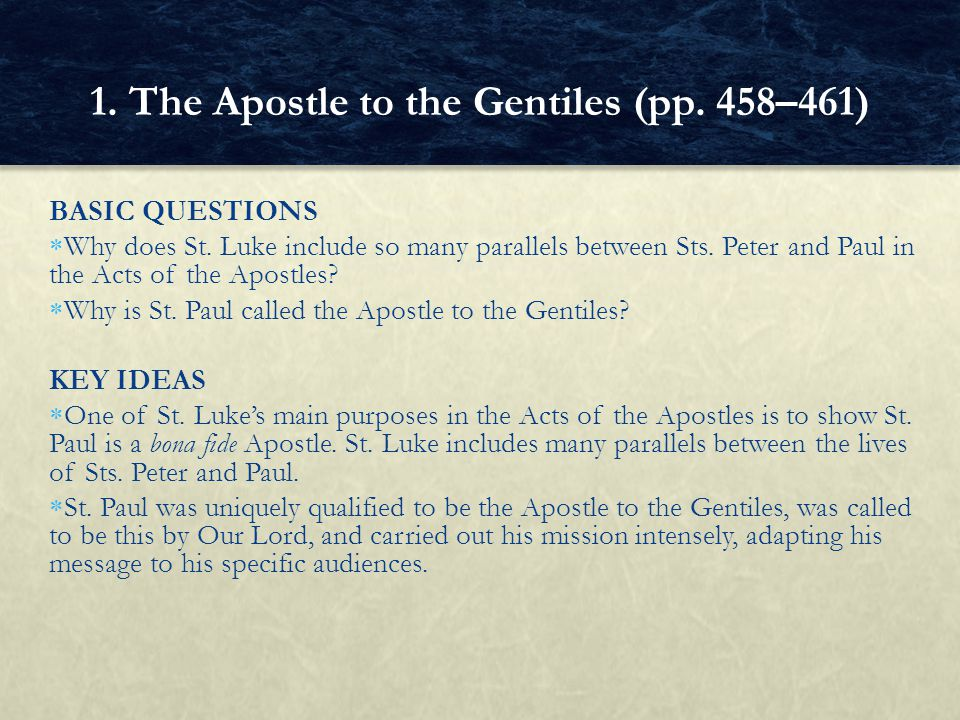 ANTICIPATORY SET A class discussion on the homework (Acts 21:27—22:29), using the following question:  How does St.