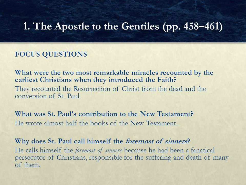 FOCUS QUESTIONS What was the pedagogue of Israel according to St.