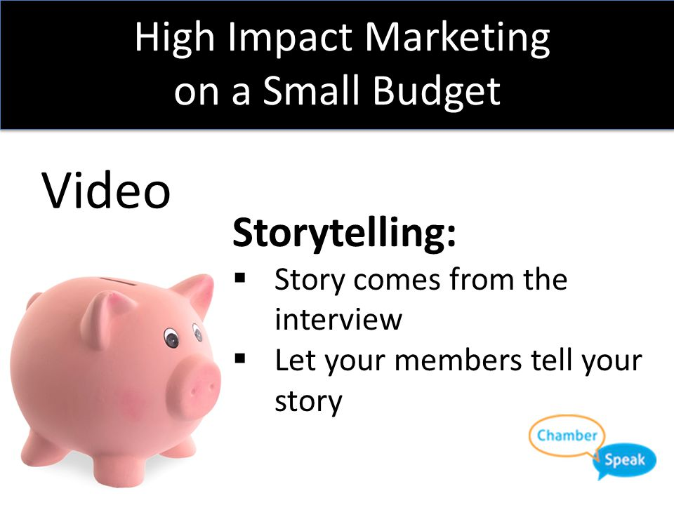 High Impact Marketing on a Small Budget Video Chamber of Commerce Mountain View: Why I am a Member