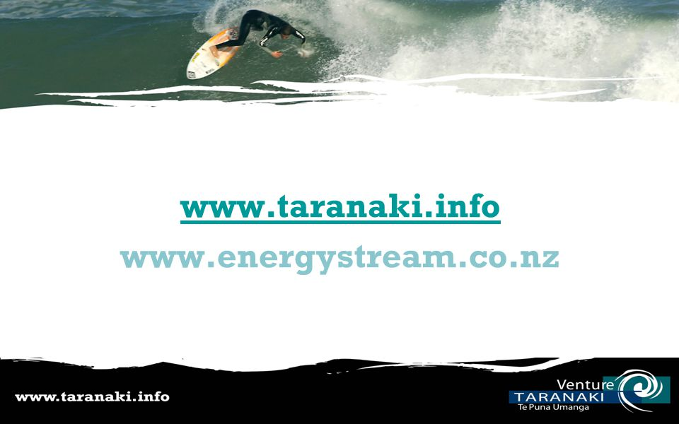 www.taranaki.info www.energystream.co.nz