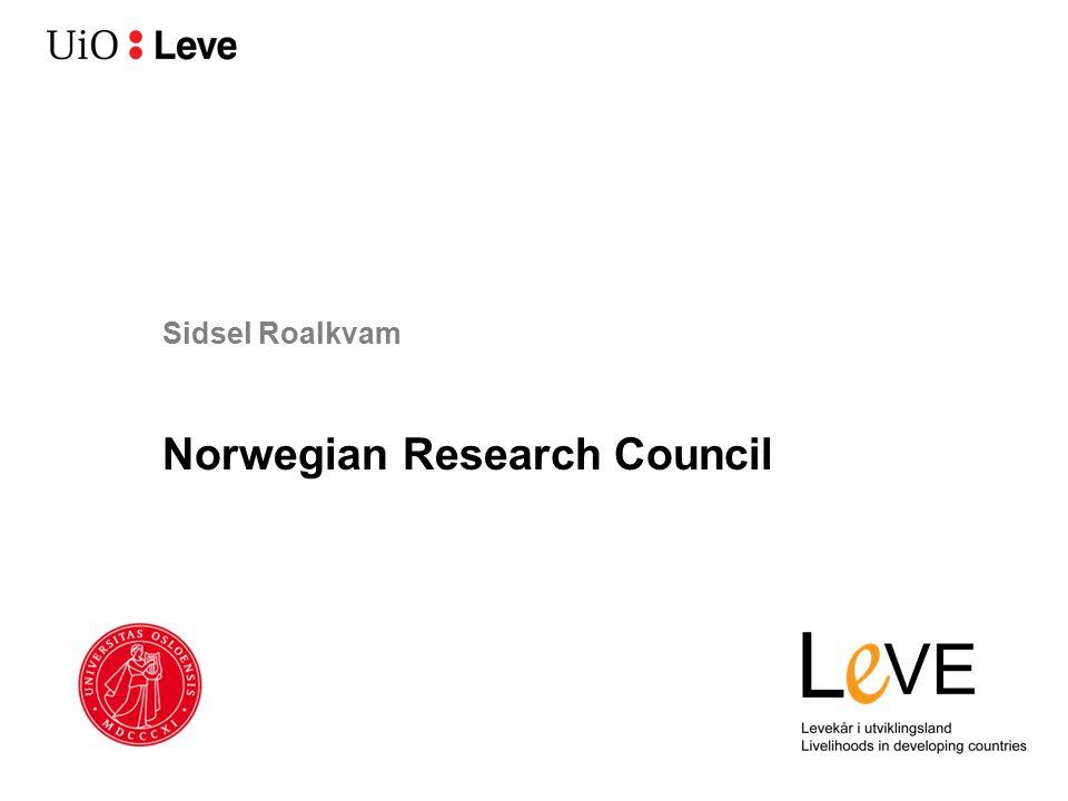 Sidsel Roalkvam Norwegian Research Council