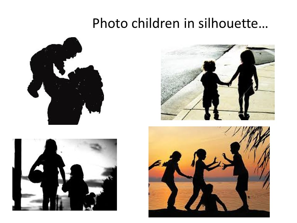 Photo children in silhouette…