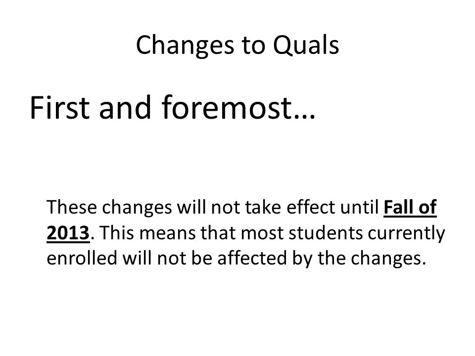 Changes to Quals 1.Students will be required to take exams in 2 areas 2.Pick from the following 6 areas: 3.Each of these areas will have 2 classes – 1 common to that area – 1 of the classes to be chosen by the student from a list of 1-3 pre- approved classes 1.Controls 2.Design 3.Structures 4.Fluids 5.Propulsion 6.Aeroelasticity Example: Propulsion Kinetics & Thermodynamics of Gases AE 6765 Combustion AE 6766 Gas Dynamics AE 6050 Common course: Courses to chose from: