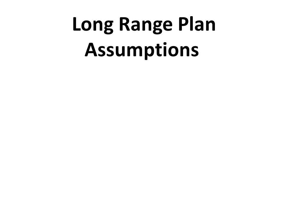 Long Range Plan Assumptions