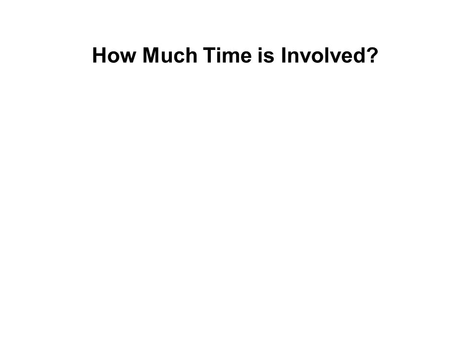 How Much Time is Involved