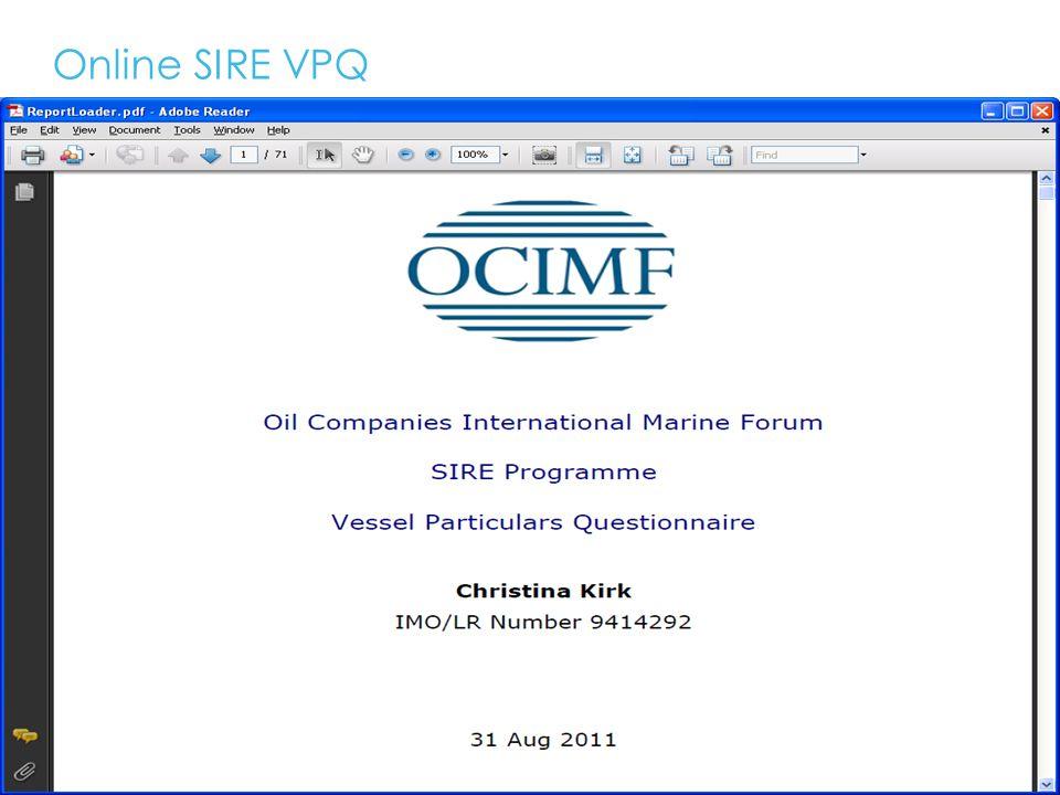 Online SIRE VPQ