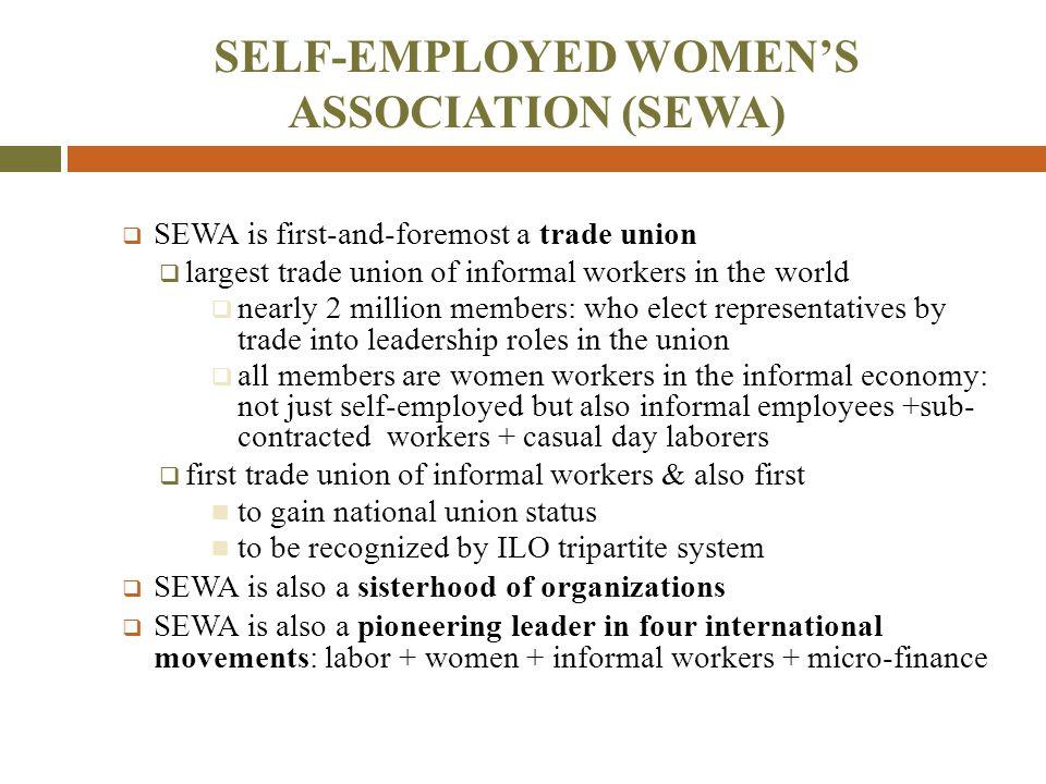 SEWA CASE # 1: HOME-BASED WORKERS