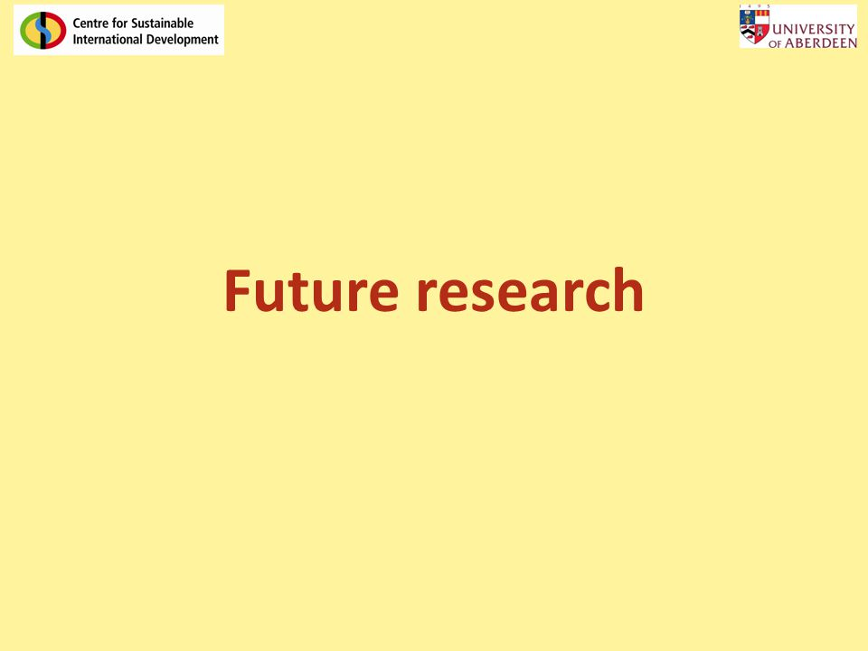 Future research