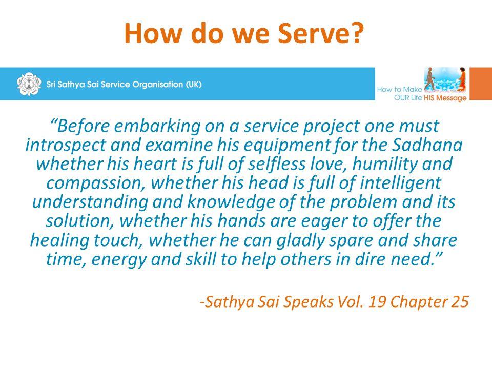 How do we Serve.