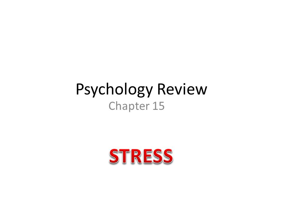 Psychology Review Chapter 15