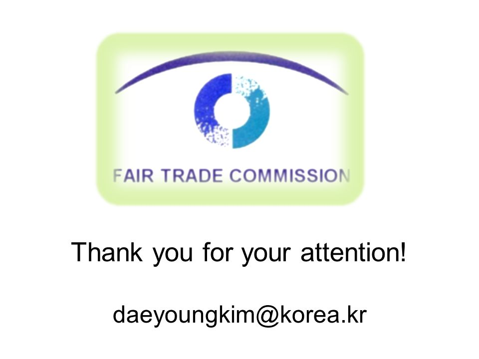 Thank you for your attention! daeyoungkim@korea.kr
