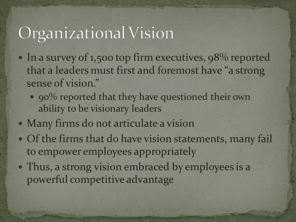 An organization's mission statement attempts to capture the organization's identity; it answers the question Who are we? While vision statements focus on the future, mission statements should be written around the past and present Strong mission statements suggest why organizational stakeholders (e.g.