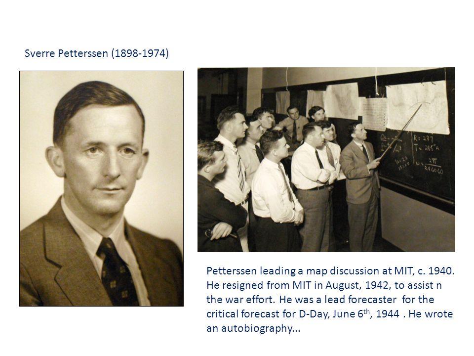 Sverre Petterssen (1898-1974) Petterssen leading a map discussion at MIT, c.