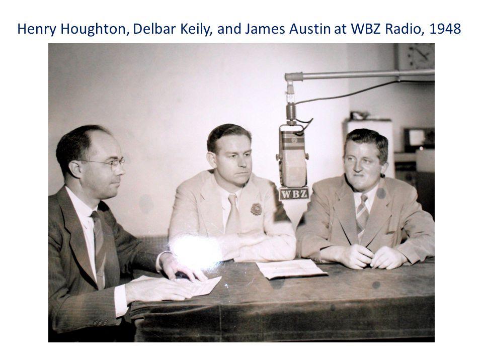 Henry Houghton, Delbar Keily, and James Austin at WBZ Radio, 1948