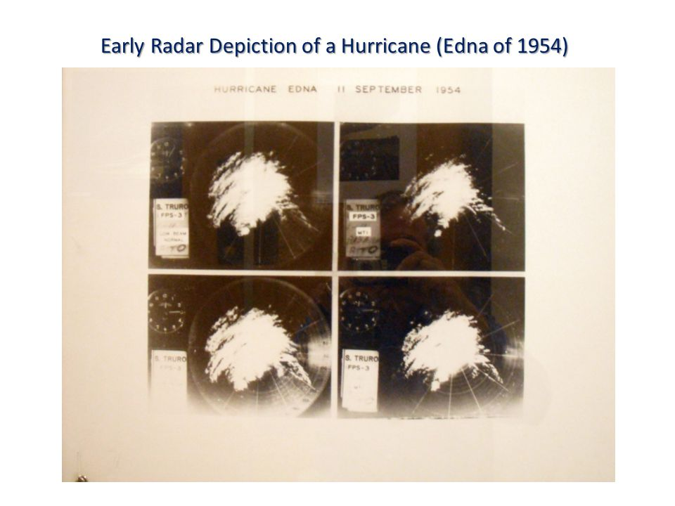 Early Radar Depiction of a Hurricane (Edna of 1954)