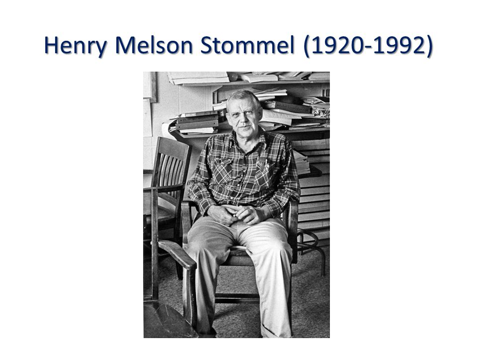 Henry Melson Stommel (1920-1992)