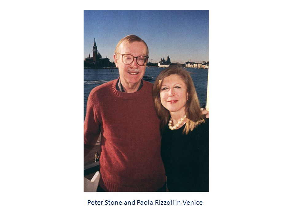 Peter Stone and Paola Rizzoli in Venice