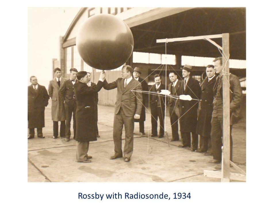 Rossby with Radiosonde, 1934