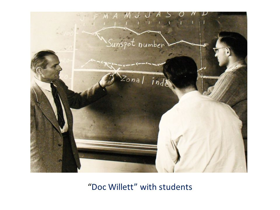 Doc Willett with students