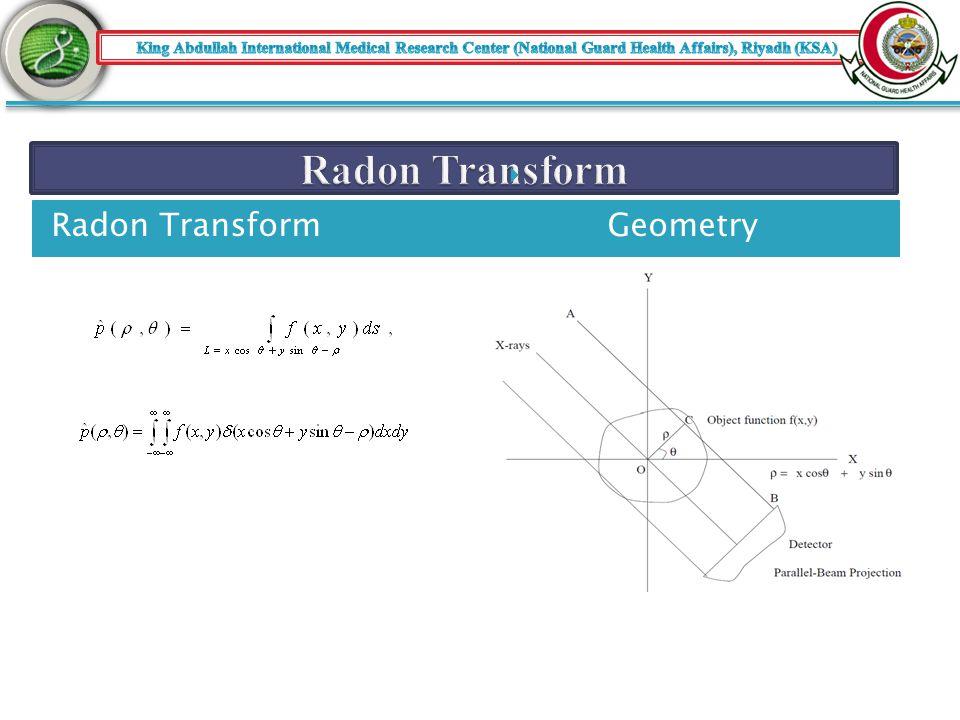 Radon TransformGeometry 