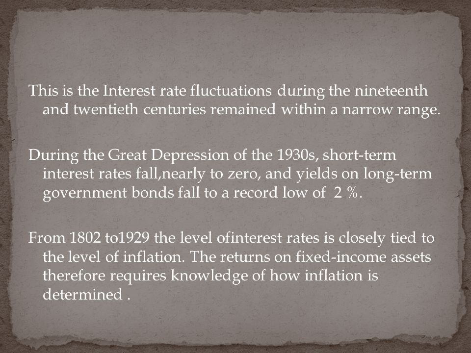 This is the Interest rate fluctuations during the nineteenth and twentieth centuries remained within a narrow range.