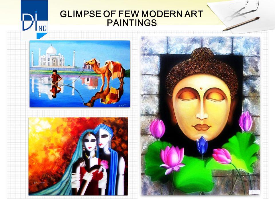 GLIMPSE OF FEW MODERN ART PAINTINGS