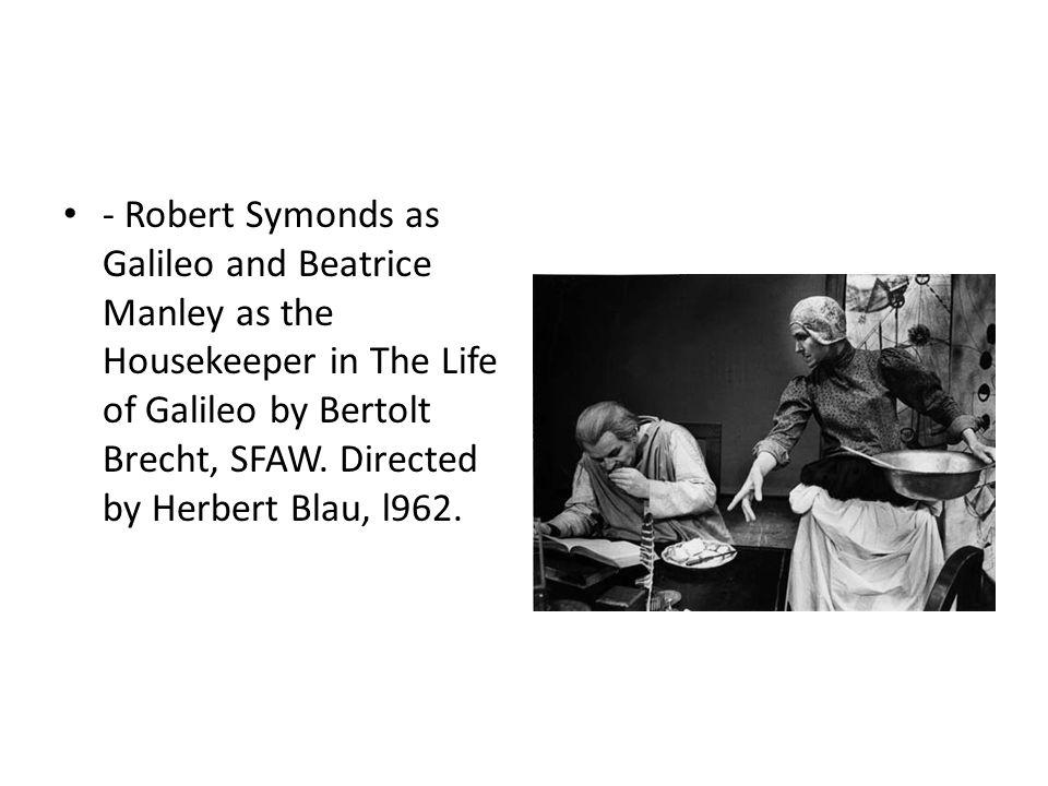 The CRT performance of Bertolt Brecht s Galileo at UConn through Dec. 12.