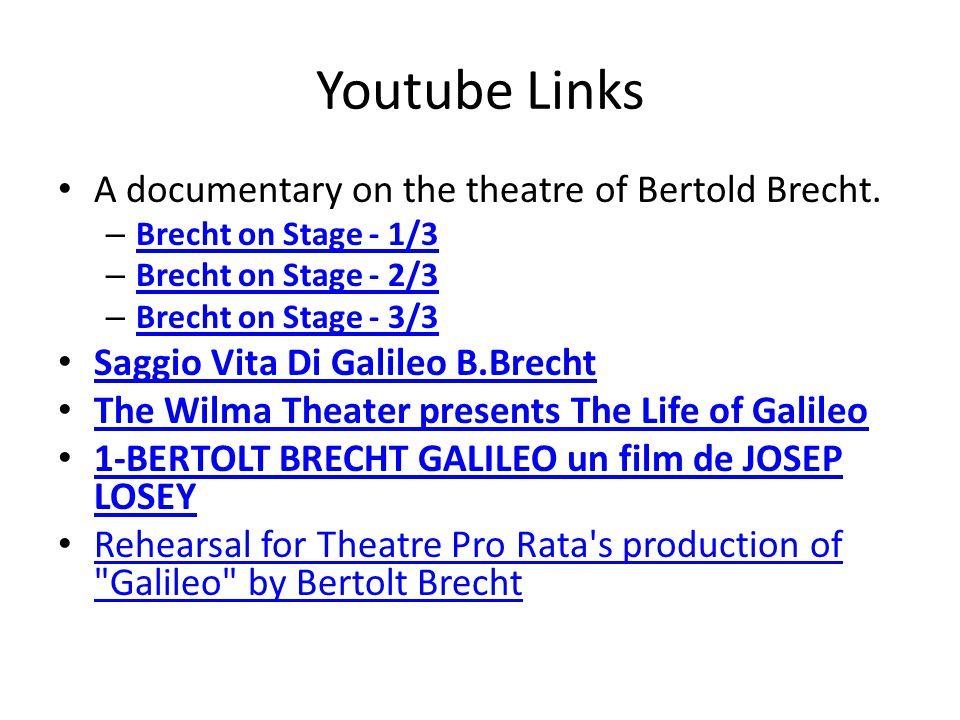 References Brecht, Bertolt.1952. Galileo. Trans. Charles Laughton.
