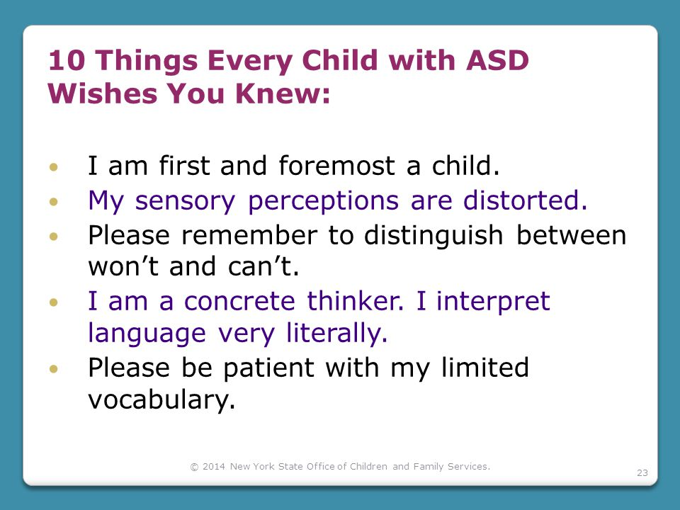 10 Things Every Child with ASD Wishes You Knew: I am first and foremost a child.