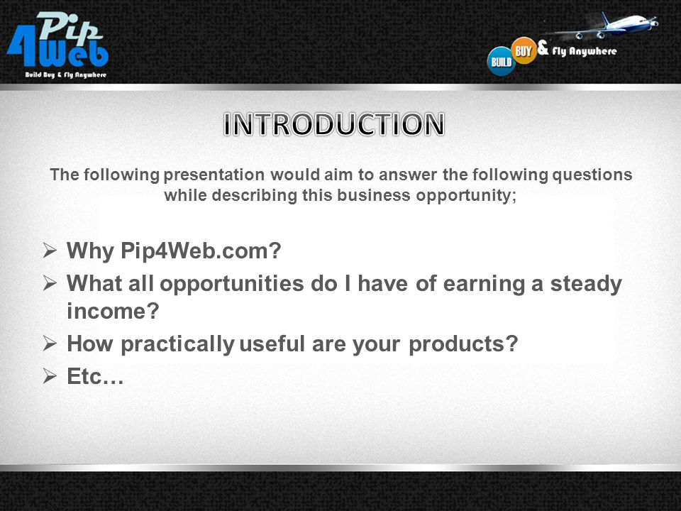 Welcome to Pip4web.com. BUILD BY & Fly Anywhere