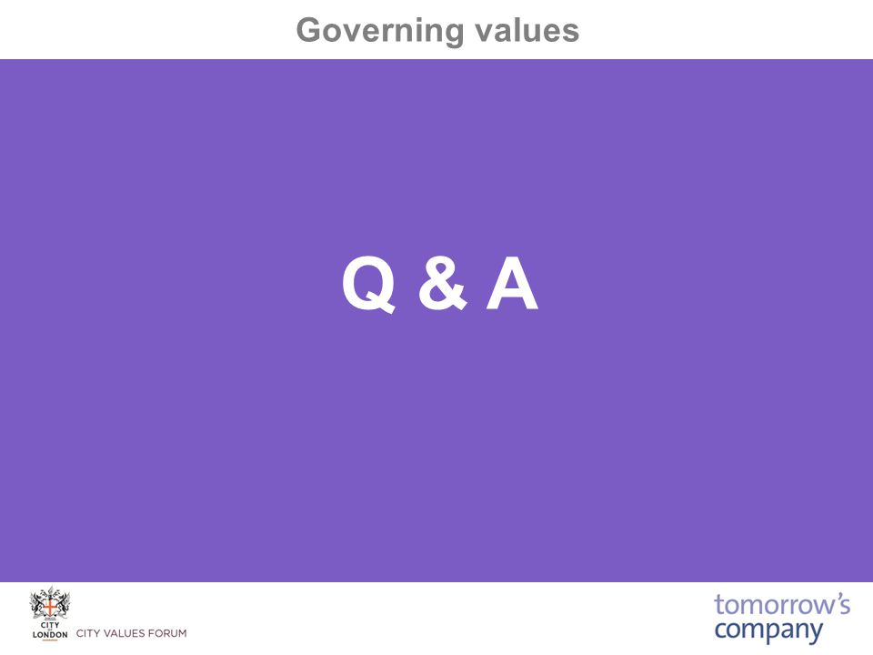 Q & A Governing values