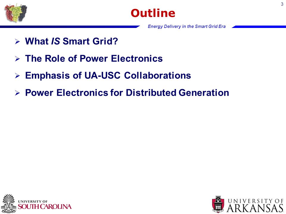 Energy Delivery in the Smart Grid Era Outline  What IS Smart Grid.