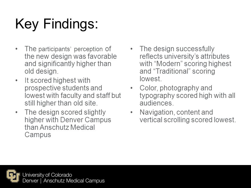 Key Findings: The participants' perception of the new design was favorable and significantly higher than old design.