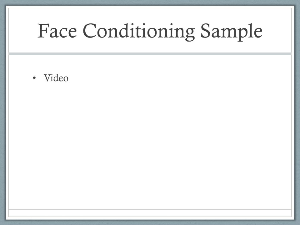 Face Conditioning Sample Video