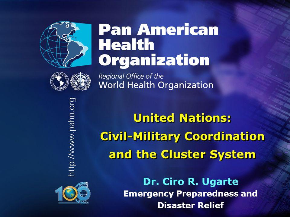 1 Pan American Health Organization..