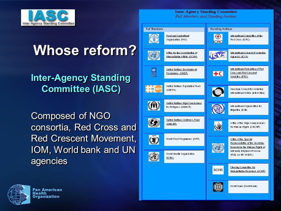 10 Pan American Health Organization Whose reform.