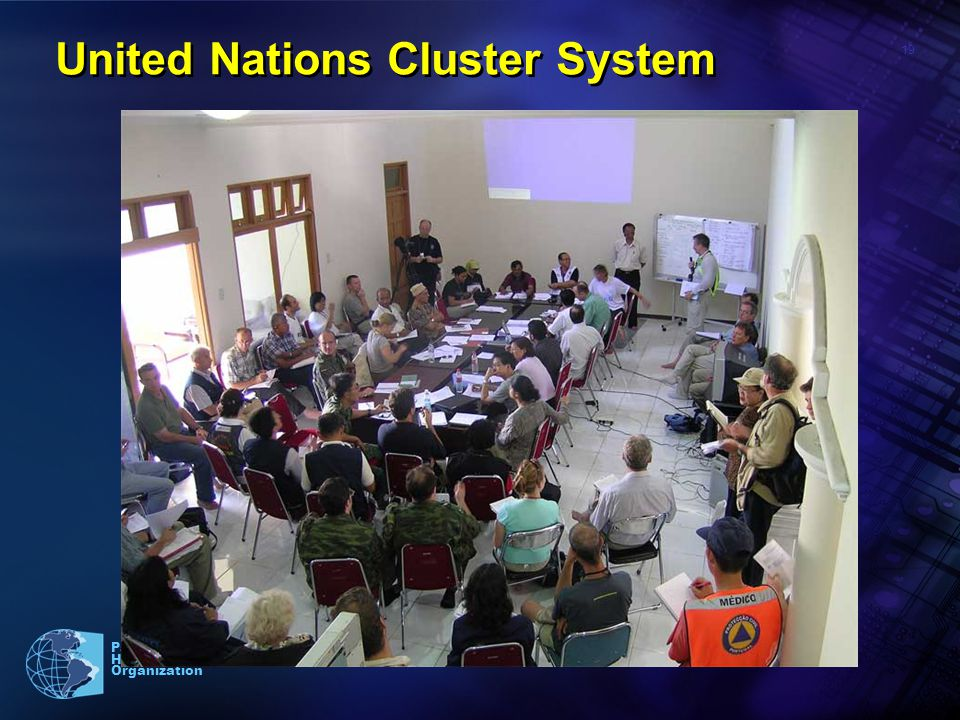19 Pan American Health Organization United Nations Cluster System