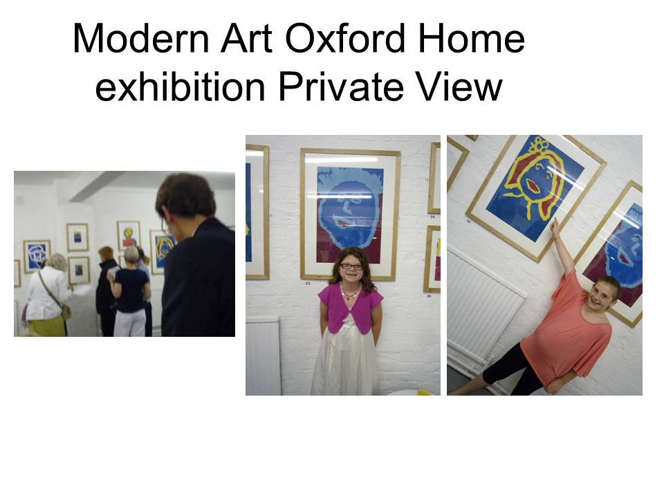 Modern Art Oxford Home exhibition Private View