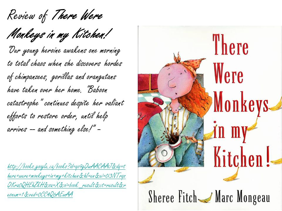 Review of There Were Monkeys in my Kitchen.