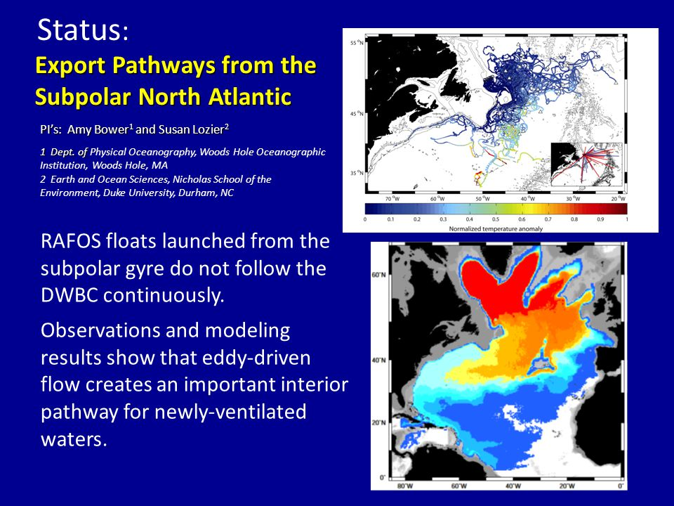 Numerical model studies completed in the United States, the United Kingdom, and in Brazil, as well as theoretical studies in the Netherlands, indicate that the higher latitudes (30  S to 34.5  S) are likely to produce more robust estimates of the MOC for several reasons.